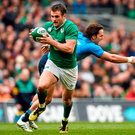 The Italian game was made for experimenting with Jared Payne at full-back. Photo: Stephen McCarthy/Sportsfile