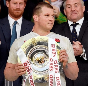 England's Dylan Hartley could collect €150,000 if his team completes the Grand Slam. Photo: Toby Melville/Reuters
