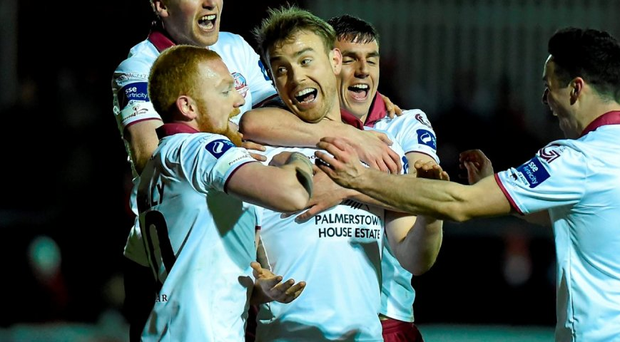 Galway United players : David Fitzgerald / Sportsfile