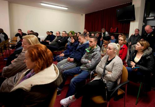 """Twinlite was reported to be set to """"evict"""" dozens of residents from as many as 208 homes at the Cruisepark development in Tyrrelstown. Pictured are some of the tenants of the development. Photo: RollingNews.ie"""