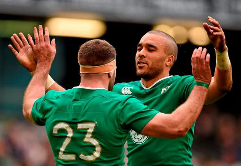 Simon Zebo is set to continue in the No 15 jersey. Picture credit: Stephen McCarthy / SPORTSFILE