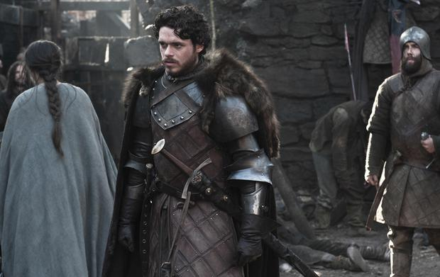 Richard Madden as Robb Stark in Game of Thrones
