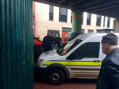 The scene on Talbot street shortly after the incident