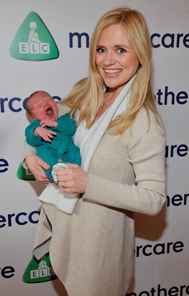 Baby John James McGuire pictured at the Mothercare SS16 launch with his mother Karen, revealing the latest fashion collections from Mothercare. Photo: Patrick O'Leary