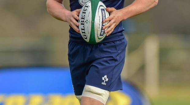 Ireland's Josh van der Flier trains with the squad at Carton House, Maynooth yesterday. Photo: Ramsey Cardy/Sportsfile