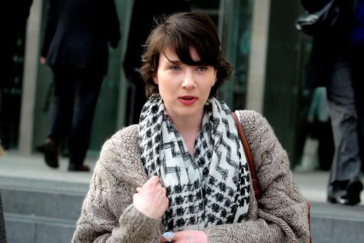 Niamh Ní Domhnaill, who waived her right to anonymity, leaving court yesterday. Pic: Courtpix