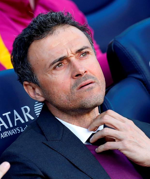 Barcelona's coach Luis Enrique. Photo: Albert Gea\Reuters