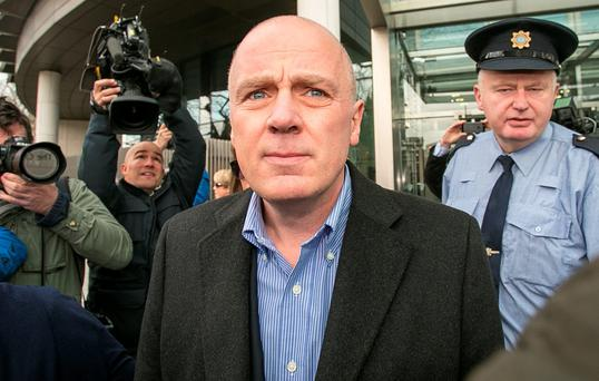 David Drumm, the former CEO of Anglo-Irish Bank, leaving the CCJ yesterday, after he was released on bail. PIC: COURTPIX