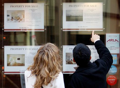 First-time buyers need a deposit of 10pc for amounts borrowed up to €220,000, with 20pc needed over that amount. They are also limited to borrowing only three-and-a-half times their incomes. Photo: Reuters