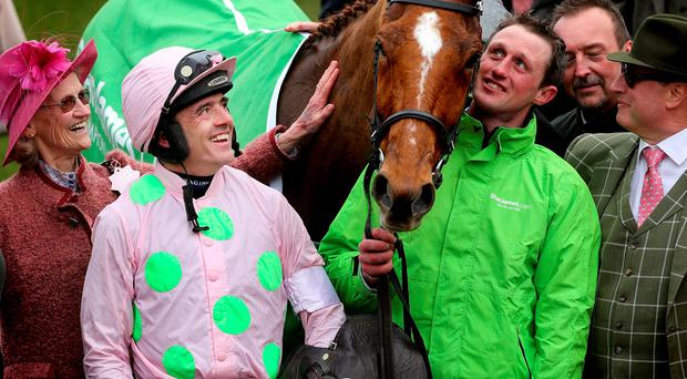 Jockey Ruby Walsh and his horse Annie Power are welcomed to the winners' enclosure