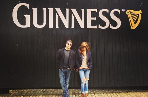 Vanessa and Nick Lachey at the Guinness Storehouse in Dublin. Picture: Vanessa Lachey/Instagram