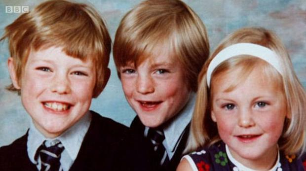 Mary Berry's lost her son William (centre) in a car accident in 1989 age 19 . Photo Credit: Mary Berry's Easter Feast BBC2