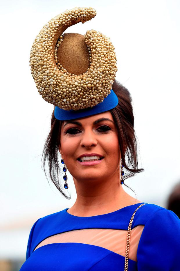 Ladies hat fashion for Ladies Day of the 2016 Cheltenham Festival at Cheltenham Racecourse. PRESS ASSOCIATION Photo. Picture: Joe Giddens/PA Wire