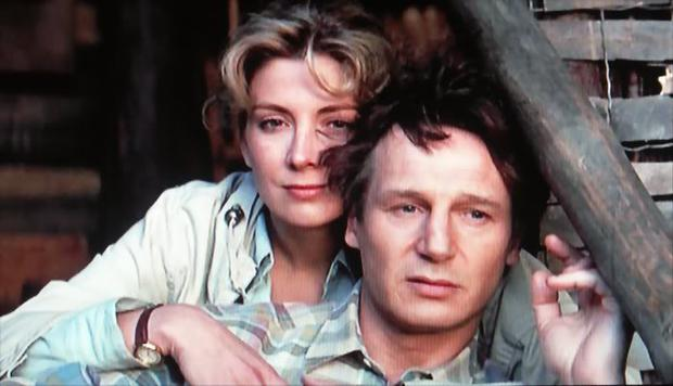 Liam Neeson and his late wife Natasha Richardson in Nell.