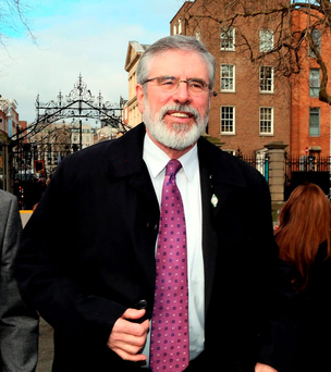 Sinn Fein's Gerry Adams Photo: AFP/Getty