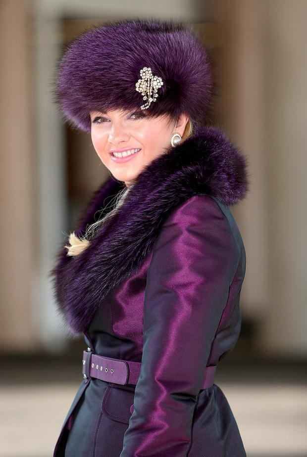 Louise Allen pictured at the Cheltenham races for ladies day. Photo: Gerry Mooney