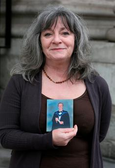 Angela Bolton, wife of Robert, outside court. Photo: Courts Collins