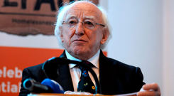 President Michael D Higgins: 'We must ask ourselves how we might best use that freedom which was handed down to us by previous generations in such a way as will serve all of our people' Photo: Caroline Quinn