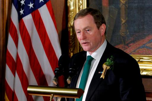 Taoiseach Enda Kenny speaks during the annual Friends of Ireland Luncheon at the US Capitol in Washington. Photo: Reuters