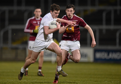 Con Kavanagh, Kildare, in action against Daire Conway, Westmeath (SPORTSFILE)