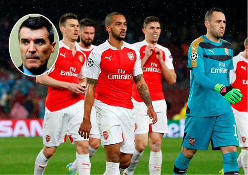 Roy Keane has again criticised the Arsenal players