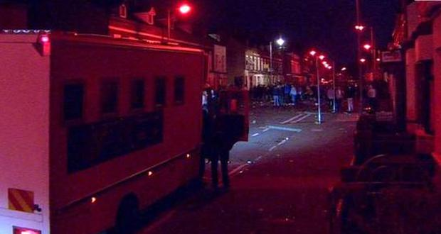 The situation was brought under control at around 4.30am. March 2016. Picture: BBC