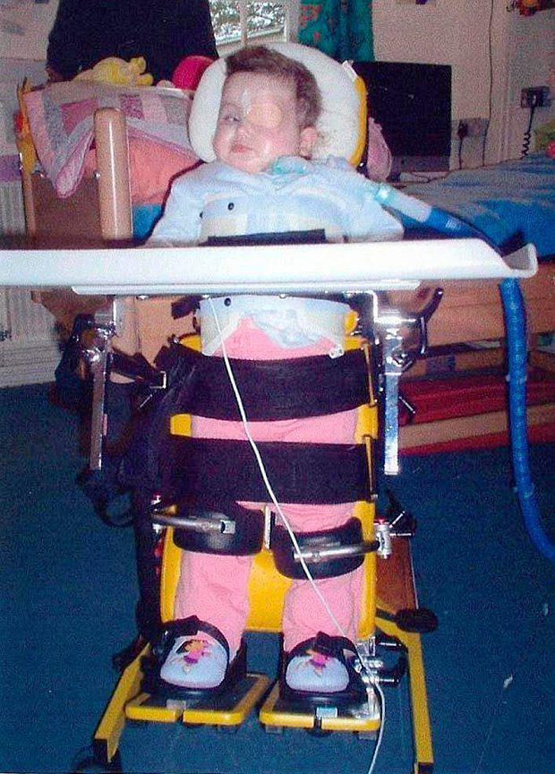 Cerys Edwards after she was left paralysed and brain damaged Photo: PA