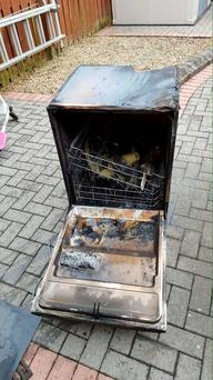 Dishwasher sparked fire in family kitchen (Photo: Dublin Fire Brigade)