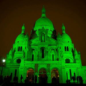 The Sacré-Cœur Basilica in Paris joins the Global Greening.