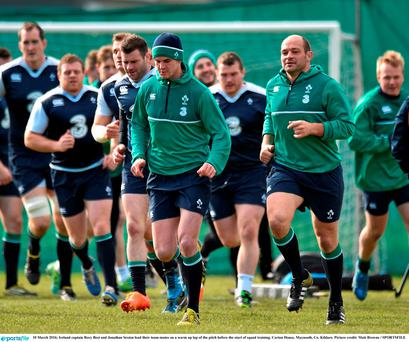 Ireland captain Rory Best and Jonathan Sexton