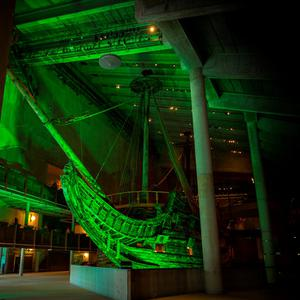The Vasa Warship in Stockholm, Sweden, joins Tourism Ireland's Global Greening initiative, to celebrate the island of Ireland and St Patrick.