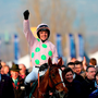 Jockey Ruby Walsh celebrates on Limini after winning the Trull House Stud Mares' Novices' Hurdle during St Patrick's Thursday of the 2016 Cheltenham Festival at Cheltenham Racecourse. PRESS ASSOCIATION Photo. Picture date: Thursday March 17, 2016. See PA story RACING Trull. Photo credit should read: David Davies/PA Wire. RESTRICTIONS: Editorial Use only, commercial use is subject to prior permission from The Jockey Club/Cheltenham Racecourse. Call +44 (0)1158 447447 for further information.