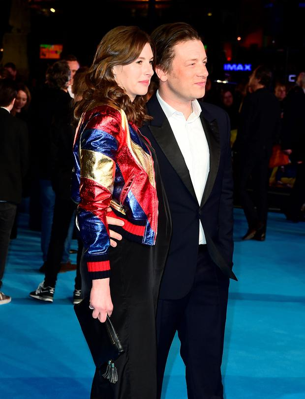 Jools and Jamie Oliver attending the European Premiere of Eddie the Eagle held at Odeon Cinema in Leicester Square, London. Photo: Ian West/PA Wire