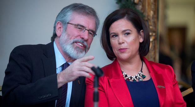 Gerry Adams and Mary Lou McDonald. Photo: Arthur Carron