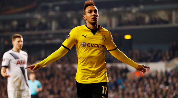 Aubameyang: On target Photo: Reuters