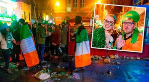 37990d80c Major clean-up begins after St Patrick's Day celebrations in capital go  into overdrive