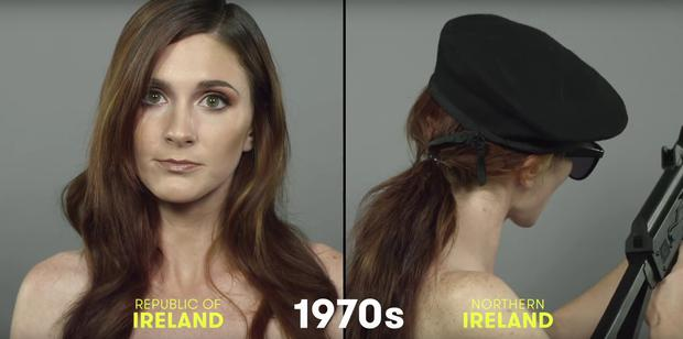 The controversial '100 years of Irish beauty' video