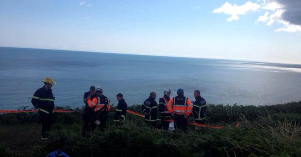 Dublin Fire Brigade rescue walker from Howth Head (Photo: Twitter/DFB)