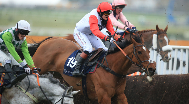Pacha Du Polder ridden by Victoria Pendleton in action in the St. James's Place Foxhunter Chase Challenge Cup during Gold Cup Day of the 2016 Cheltenham Festival at Cheltenham Racecourse. PRESS ASSOCIATION Photo. Picture date: Friday March 18, 2016. See PA story RACING Foxhunter. Photo credit should read: Mike Egerton/PA Wire. RESTRICTIONS: Editorial Use only, commercial use is subject to prior permission from The Jockey Club/Cheltenham Racecourse. Call +44 (0)1158 447447 for further information.