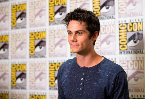 2014 file photo: Cast member Dylan O'Brien poses at a press line for
