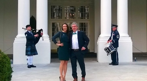 Billy Keane with his daughter Laura at the White House this week