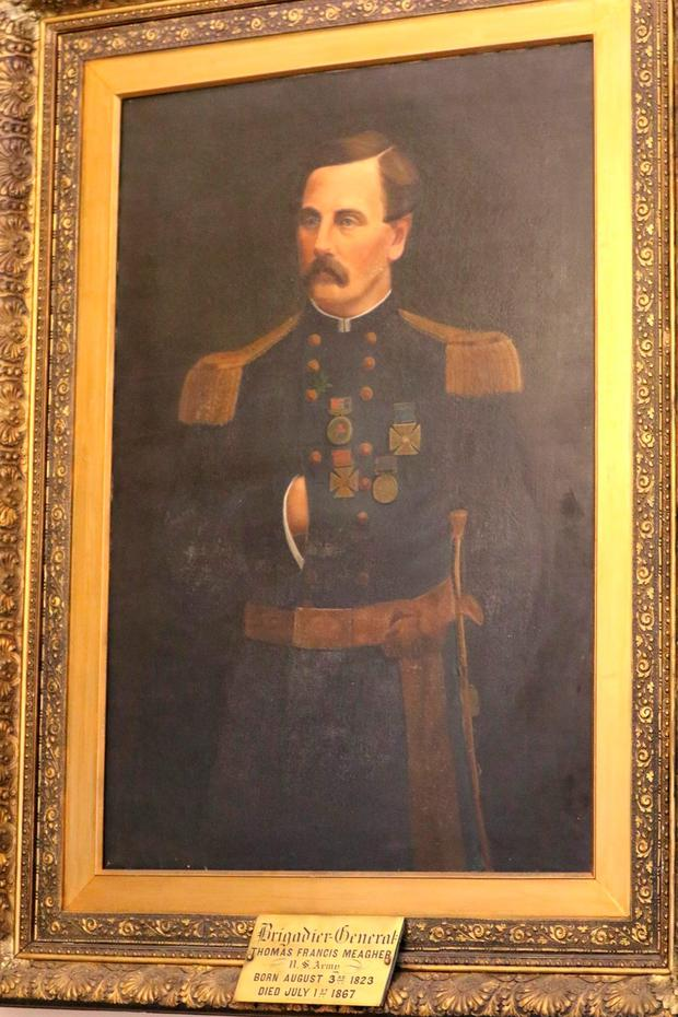 A painting of Thomas Francis Meagher. Photo: Patrick Browne