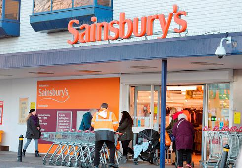 Shares in Sainsbury's were down 3.6pc at 271.6 pence each heading into the close last night.