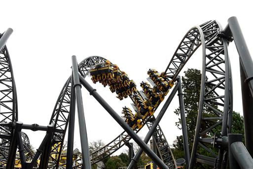 The Smiler ride at Alton Towers Resort in Staffordshire