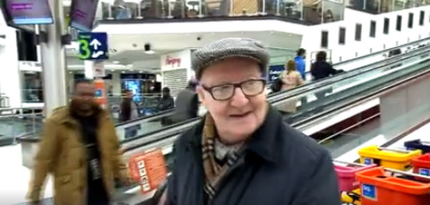 The elderly man appeared once again on TV3's Midday