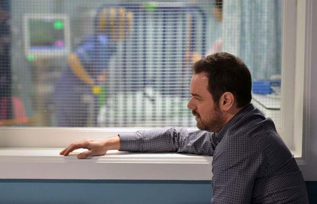 Danny dyer's character Mick is worried about the health of his son Ollie Photo BBC