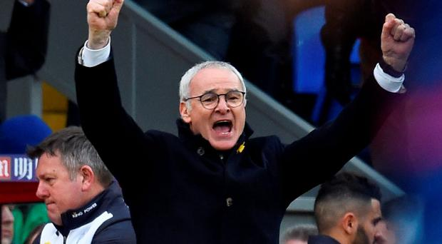 Leicester City manager Claudio Ranieri celebrates after the game Reuters / Dylan Martinez