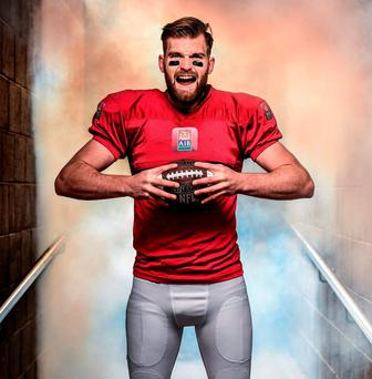 Aidan O'Shea pictured in his American football attire. Photo: Stephen McCarthy / Sportsfile
