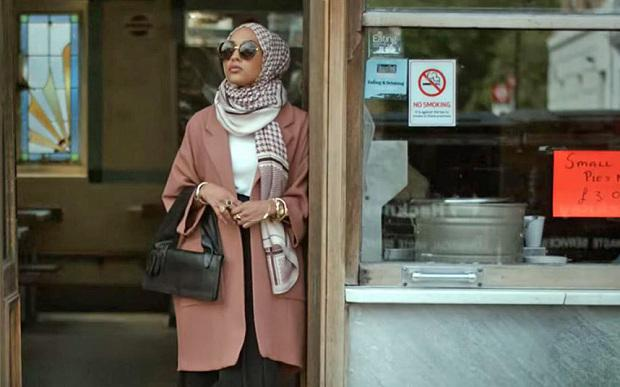 Mariah Idrissi, 23, became the first Muslim model to wear a hijab in an H&M ad Photo: H&M