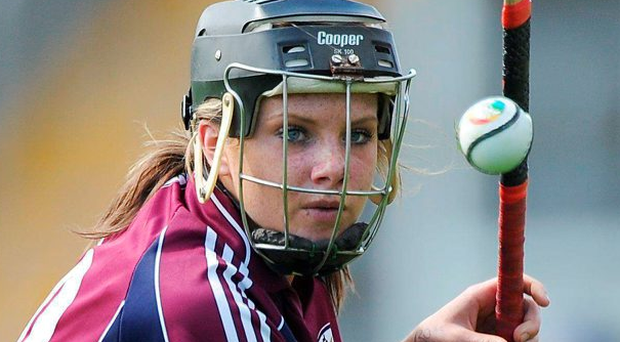 Rebecca Hennelly's penalty helped Galway on to victory Photo: Matt Browne / SPORTSFILE